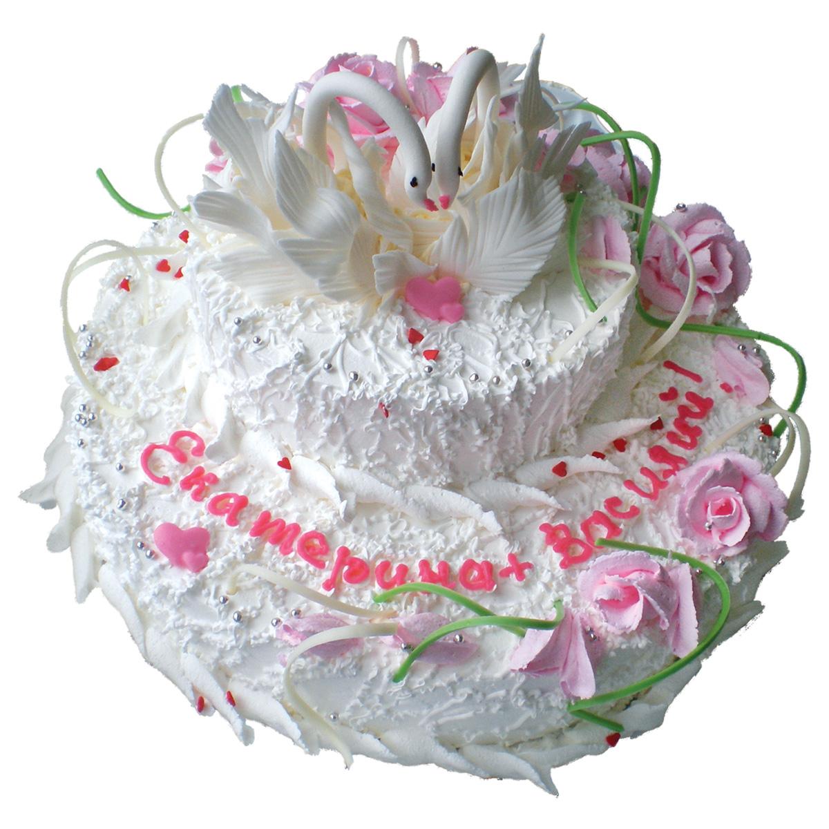 Лебеди из крема. Украшение торта Тонины тортики 21