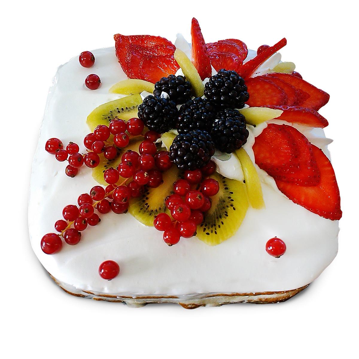 Украшение тортов с фруктами и ягодами фото